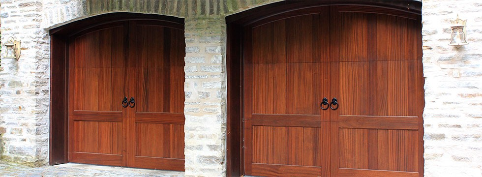 Stain Grade Wood Carriage Doors | Narberth