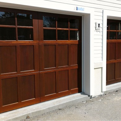 Stain Grade Carriage Door | Chestnut Hill