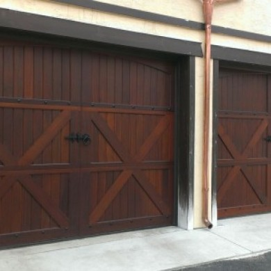 Mahogany Carriage Doors | Wayne PA