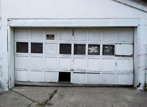 old garage door